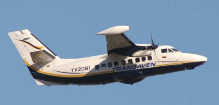 Avionetan Transaven que sufrió accidente